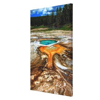 Yellowstone termisk bassäng canvastryck