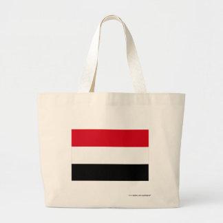 Yemen flagga tygkasse