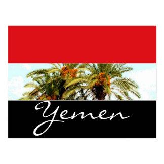 Yemen flagga vykort