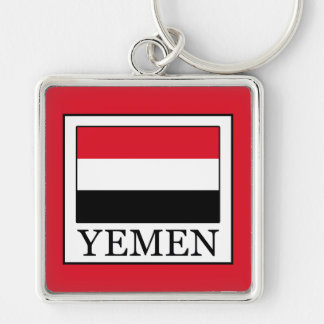 Yemen Fyrkantig Silverfärgad Nyckelring