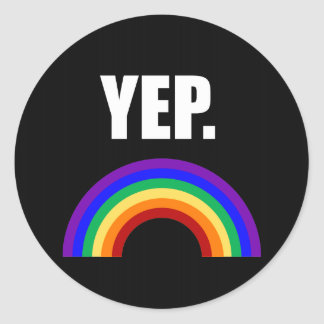 Yep roliga gay prideklistermärkear runt klistermärke