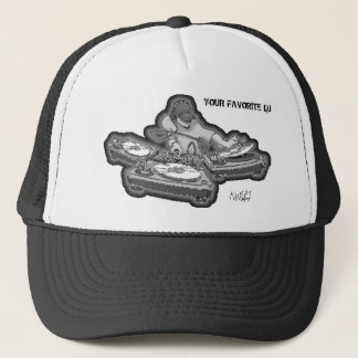 YF DJ namnteckning hatten Keps