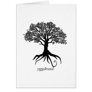 Yggdrasil livets träd hälsningskort