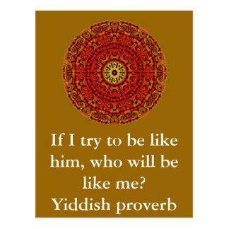 Yiddish proverb vykort