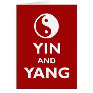 Yin och Yang Hälsningskort