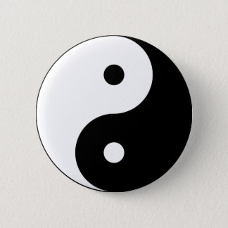 Yin och yang (yin-yang, yin yang, 陰陽). standard knapp rund 5.7 cm
