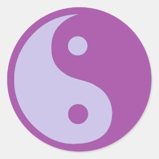 Yin & Yang av kroniskt smärtar Runt Klistermärke