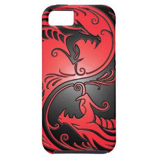 Yin Yang drakar, rött och svart iPhone 5 Hud
