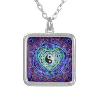 Yin Yang energiflöde Silverpläterat Halsband