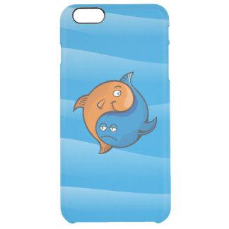 Yin Yang fisktecknad Clear iPhone 6 Plus Skal