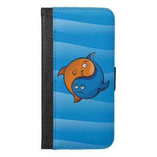 Yin Yang fisktecknad iPhone 6/6s Plus Plånboksfodral