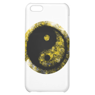 Yin Yang gultsvart de MUSEUMZazzle gåvorna iPhone 5C Mobil Skal
