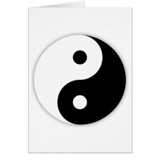 Yin & Yang Hälsningskort