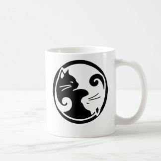 Yin Yang katter Kaffemugg