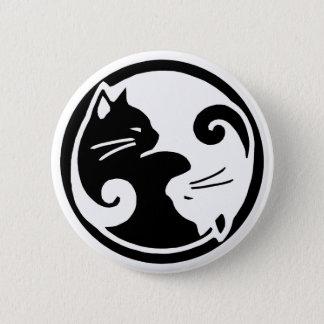 Yin Yang katter Standard Knapp Rund 5.7 Cm