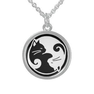 Yin Yang katthalsband Sterling Silver Halsband