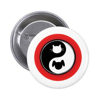 Yin Yang katthund Knapp Med Nål