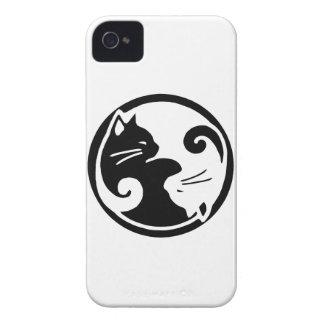 Yin Yang kattiphone case iPhone 4 Fodral