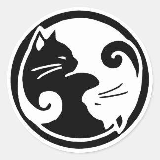 Yin Yang kattklistermärkear Runt Klistermärke