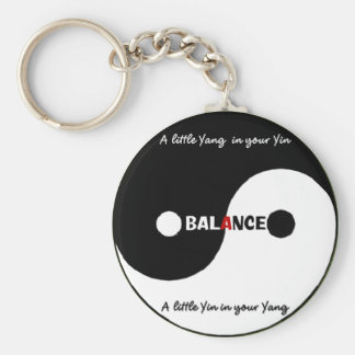"""Yin, Yang"" Keychain Rund Nyckelring"