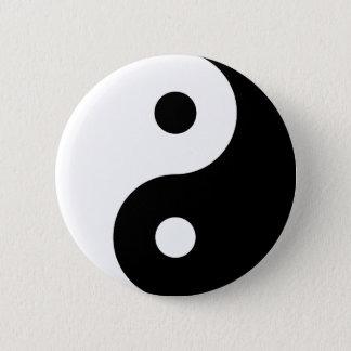 Yin Yang knäppas Standard Knapp Rund 5.7 Cm
