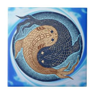 Yin Yang Koi fiskMandala Kakelplatta