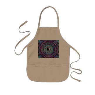 Yin Yang Mandala i purpurfärgade färger Barnförkläde