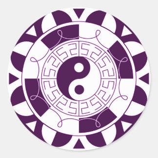 Yin Yang Mandala Runt Klistermärke