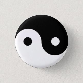 Yin Yang Mini Knapp Rund 3.2 Cm