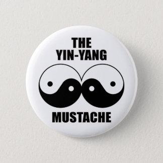 Yin-Yang mustasch Standard Knapp Rund 5.7 Cm