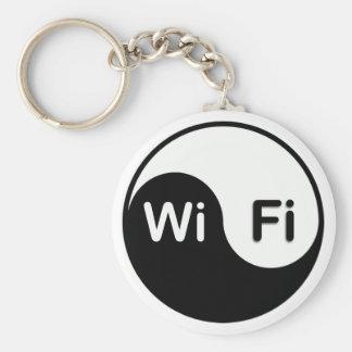 Yin Yang och wi-fi Keychain Rund Nyckelring