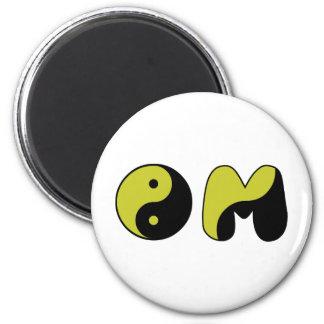 Yin Yang OM Magnet Rund 5.7 Cm