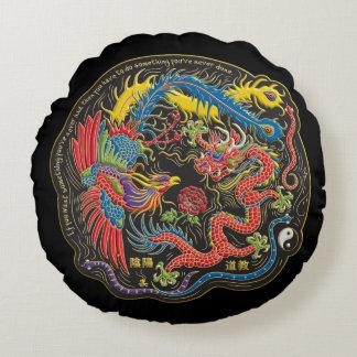 Yin Yang Phoenix och drakedekorativ kudde