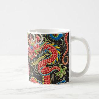 Yin Yang Phoenix och drakekaffemugg Kaffemugg