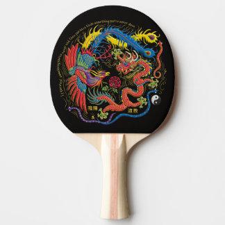 Yin Yang Phoenix och drakepingen Pong paddlar Pingisracket