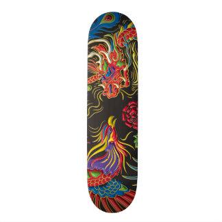 Yin Yang Phoenix och drakeSkateboarddäck Skateboard Bräda 19,5 Cm