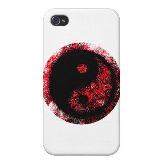 Yin Yang röd svart de MUSEUMZazzle gåvorna iPhone 4 Cover
