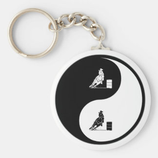 Yin Yang Rodeo Rund Nyckelring