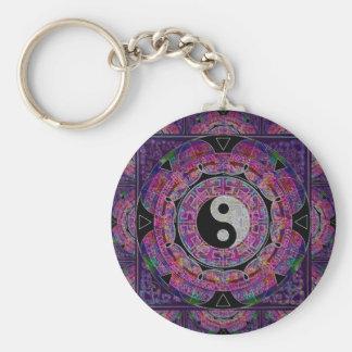 Yin Yang Rund Nyckelring