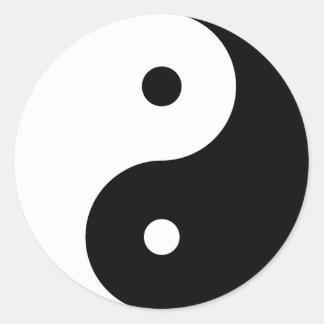 Yin Yang Runt Klistermärke