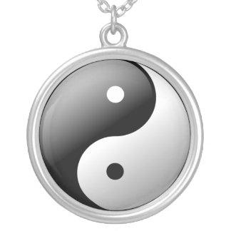 Yin Yang Silverpläterat Halsband