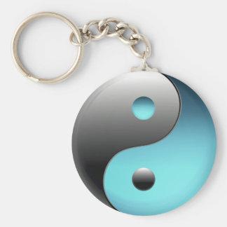 Yin Yang symbol - Ying Yang undertecknar Rund Nyckelring