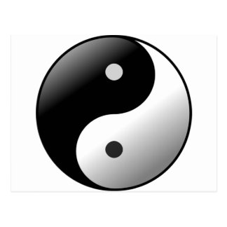 Yin Yang Vykort