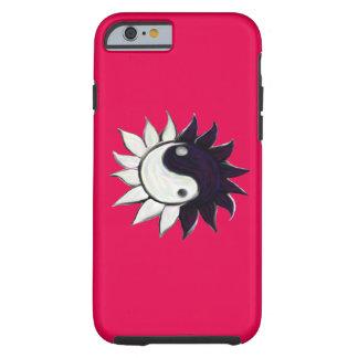 Ying-Yang blomma med rosa bakgrund Tough iPhone 6 Skal