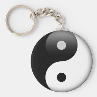 Ying Yang - Yin och Yang Taoism Rund Nyckelring