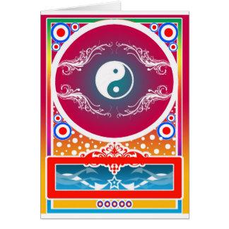 yinyang hälsningskort
