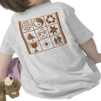 YinYang kopplar ihop den lyckliga världen Tee Shirts