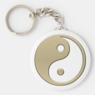 yinyang rund nyckelring