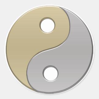 yinyang runt klistermärke