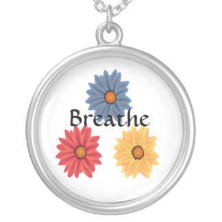 Yoga andas silverpläterat halsband